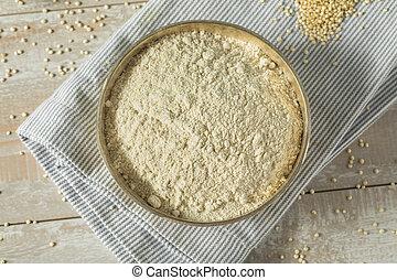 crudo, quinoa, organico, farina
