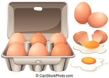 crudo, uova pollo, tuorlo