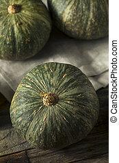 crudo, verde, organico, kabocha, schiacciare