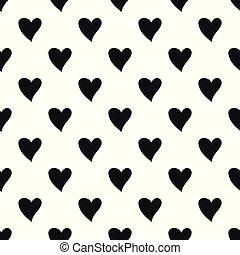 cruel, patrón del corazón, seamless, vector