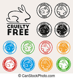Cruelty free sign icon