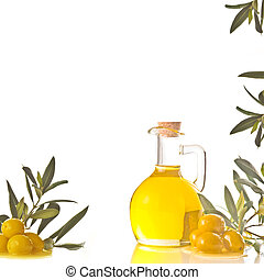 Cruet with extra olive oil