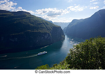 Cruise and fjord