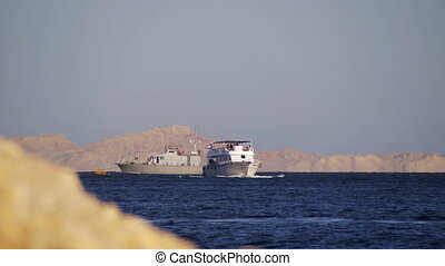 Cruise Boat Floats in the Red Sea