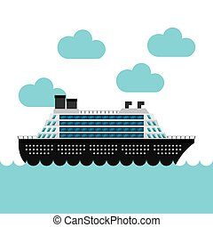 cruise boat in the sea