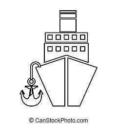 cruise boat isolated icon