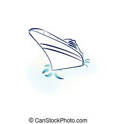 Cruise boat logo