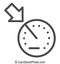Cruise control line icon. Car dashboard vector illustration isolated on white. Automobile dial outline style design, designed for web and app. Eps 10.