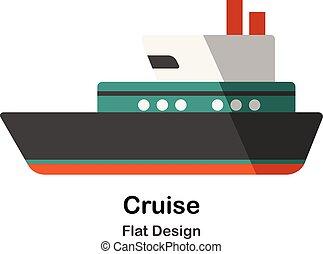 Cruise Flat Illustration
