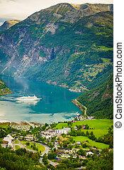cruise, geirangerfjord, skib, fjord, norway.