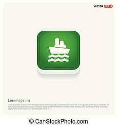 Cruise Icon Green Web Button