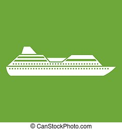 Cruise liner icon green
