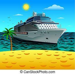 cruise liner sailing