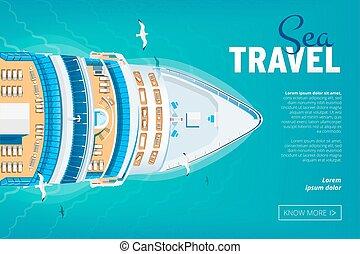 Cruise liner travel banner