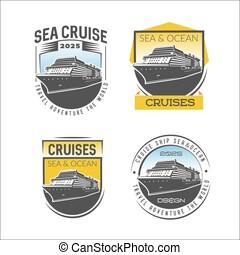 Cruise logo design template.