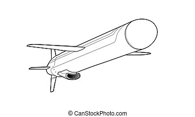 Cruise missile. Vector illustration.