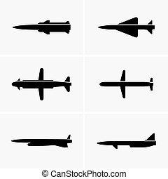 Cruise missiles - Set of six cruise missiles