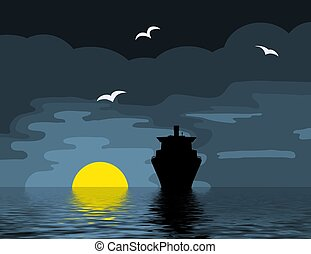 Cruise on the ocean