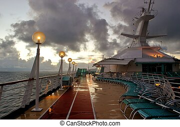 Cruise ship at dawn 2