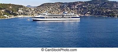 Cruise ship at Villefranche-sur-Mer, France