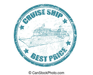 cruise ship - best price stamp - Grunge rubber stamp with...