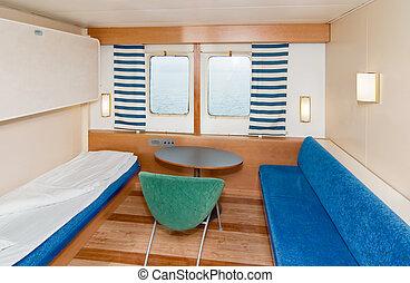 Cruise Ship Cabin - A small cruise ship cabin