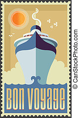 Cruise Ship - Cruise ship vector illustration