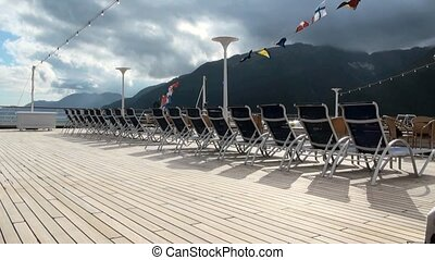 Cruise Ship Deck Chairs in Seward - Alaska - Travel Location Alaska USA