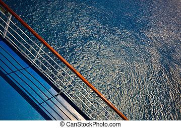 Cruise Ship Deck Railing View
