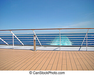 Cruise Ship Deck with sea view