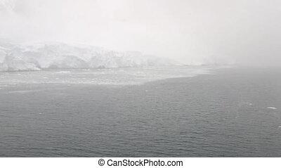Cruise ship entering Lemaire Channel, Antarctic Peninslula,...