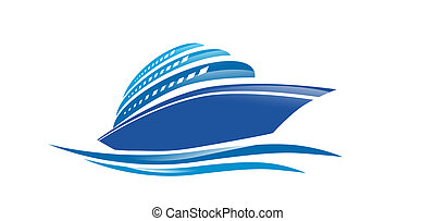 Cruise Ship - Illustration of the Cruise Ship Over White...