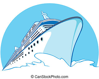Cruise Ship - A vector image of a cruise ship sailing. Looks...
