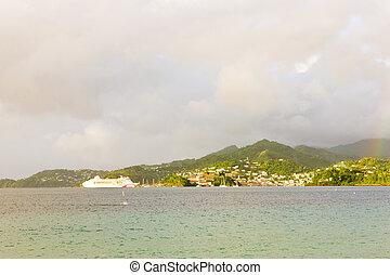 cruise ship, Grand Anse Bay, Grenada