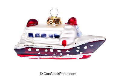 Holiday Travel - Cruise Ship Holiday Ornament Isolated on ...