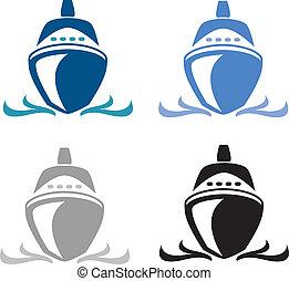 Cruise Ship - Illustrator 8. vector art