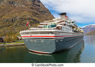 Cruise ship in Norway