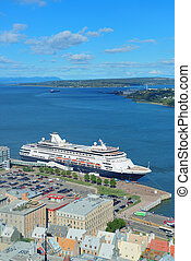 Cruise ship in Quebec City