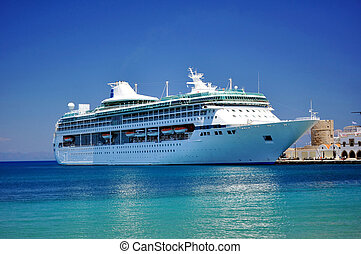 Cruise ship in the Mediterranean Sea