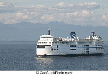 Cruise ship in Vancouver. British Columbia. Canada