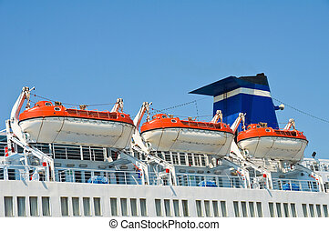 Cruise Ship Lifeboats.