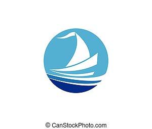 cruise ship Logo Template