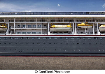 Cruise ship on a river