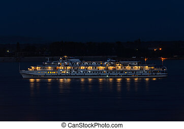 Cruise ship on the river