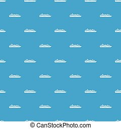 Cruise ship pattern seamless blue