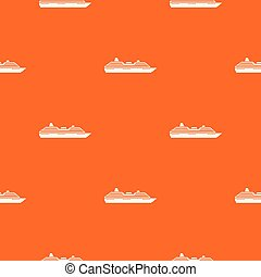 Cruise ship pattern seamless