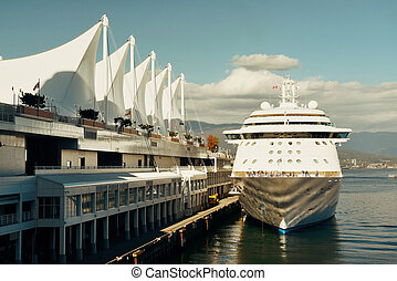 Cruise ship dock at Vancouver pier