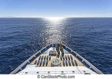 Cruise ship - Luxury cruise ship at sea