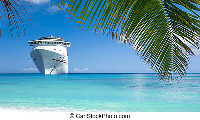 Cruise ship vacations - Cruise ship tropical island.