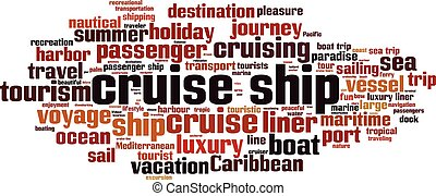 Cruise ship word cloud - horizontal